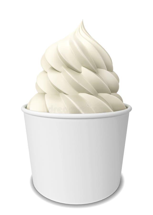 Yogurt congelado ilustración del vector