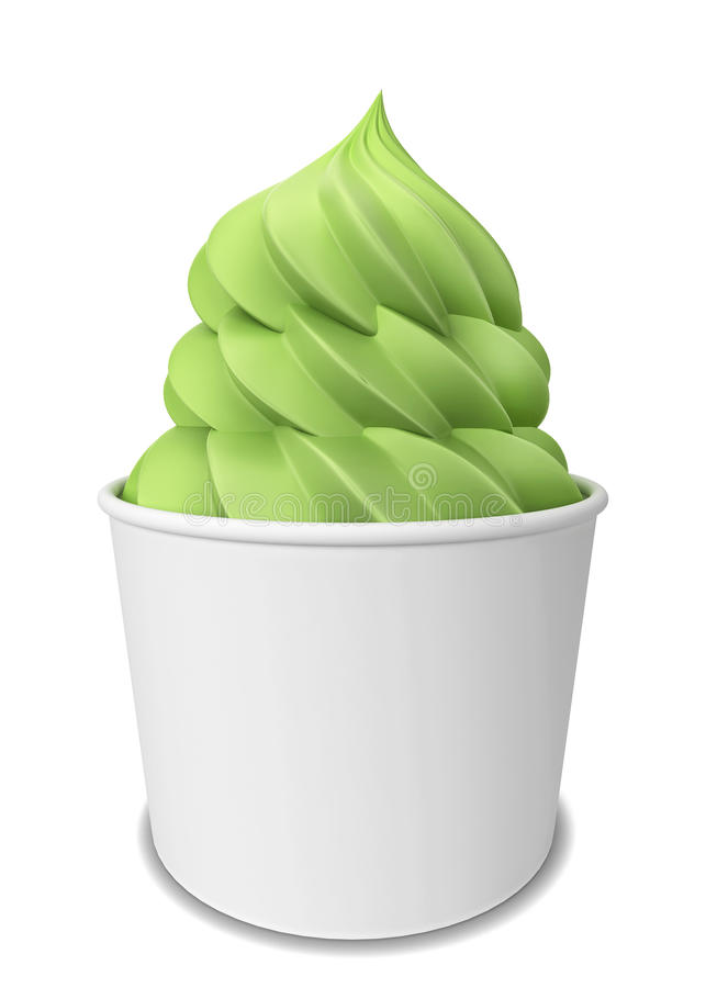 Yogurt congelato royalty illustrazione gratis