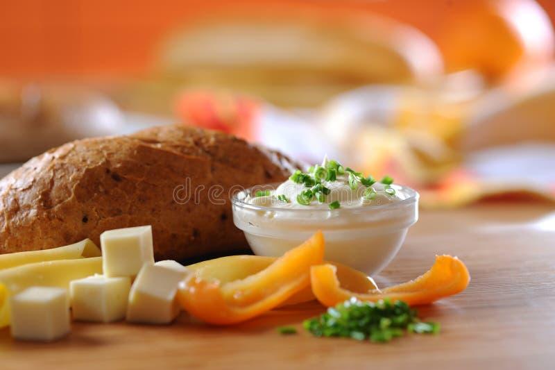 Download Yogurt cream with herbs stock image. Image of detail, vegetable - 6965405