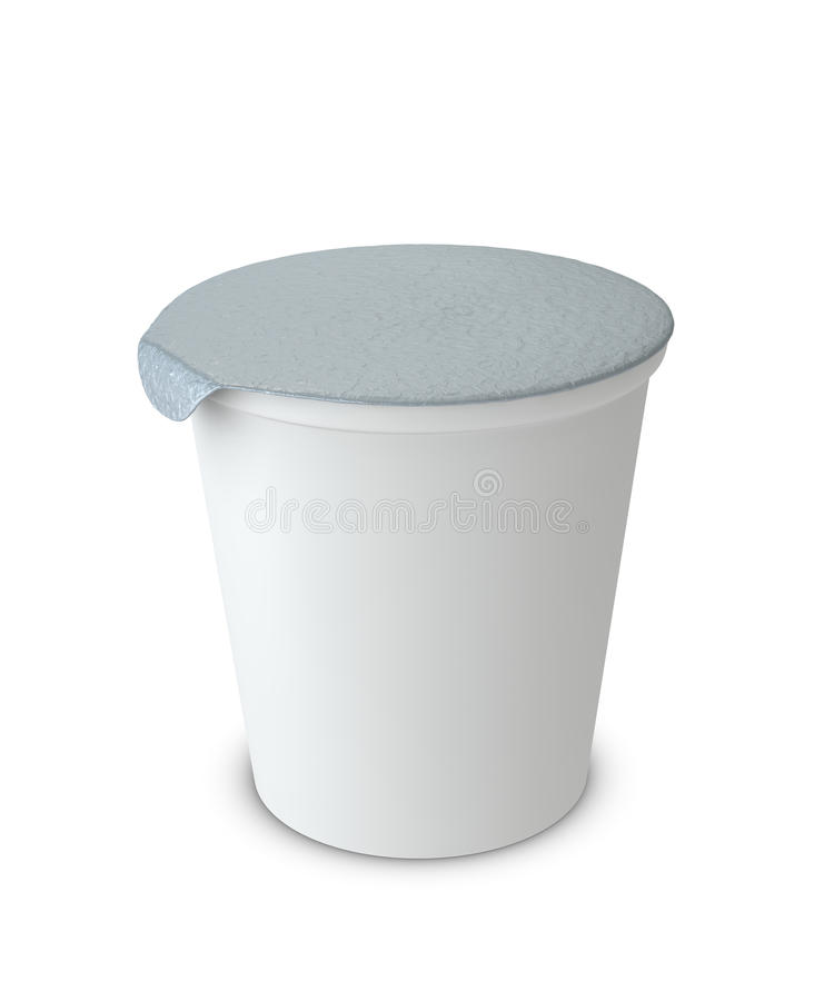Yogurt cup royalty free illustration