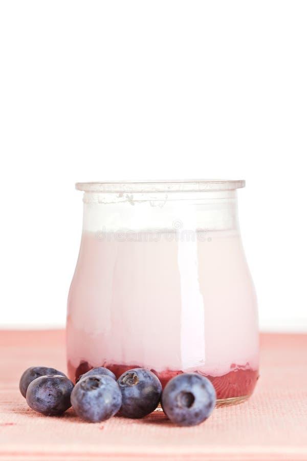 Yogurt and fresh blueberries