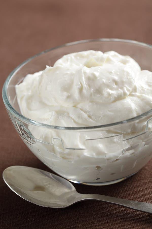 Yogurt greco fotografia stock