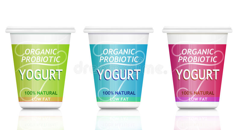 Yogurt Probiotic. royalty illustrazione gratis