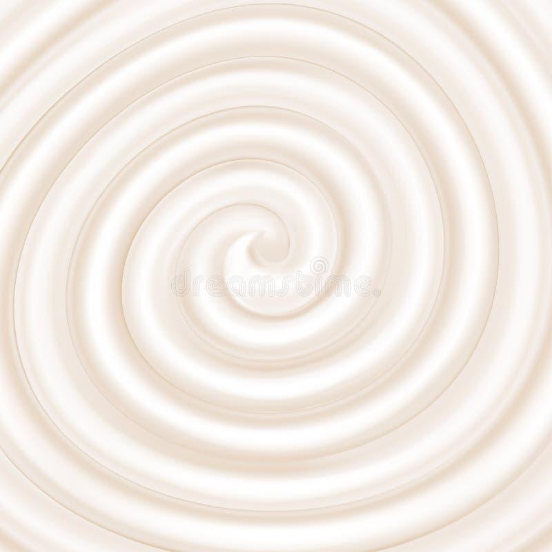 Yogurt. White swirl. royalty free illustration