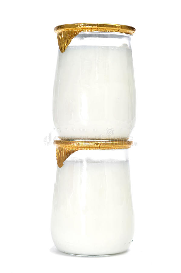 Yogurts imagens de stock