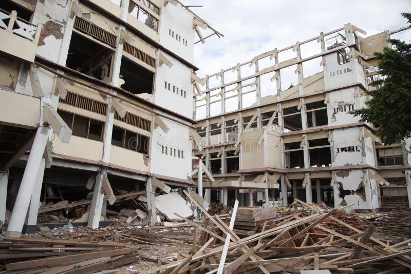 Yogyakarta après séisme images libres de droits