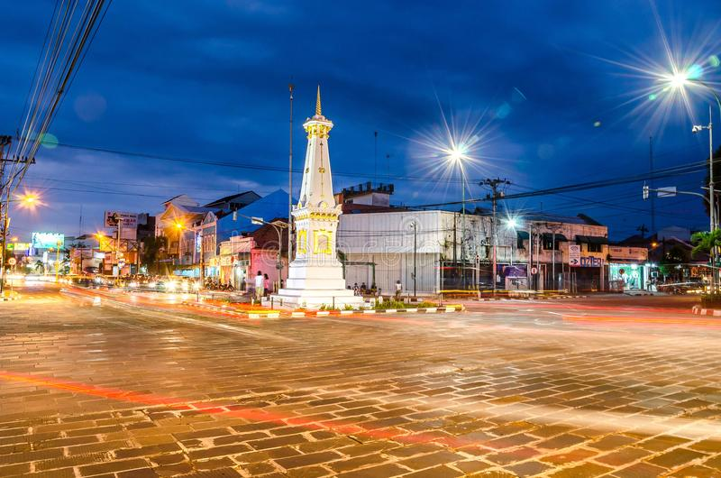 YOGYAKARTA, INDONÉSIE - MAI 21,2016 : Tugu Jogja est la plupart de popul images stock