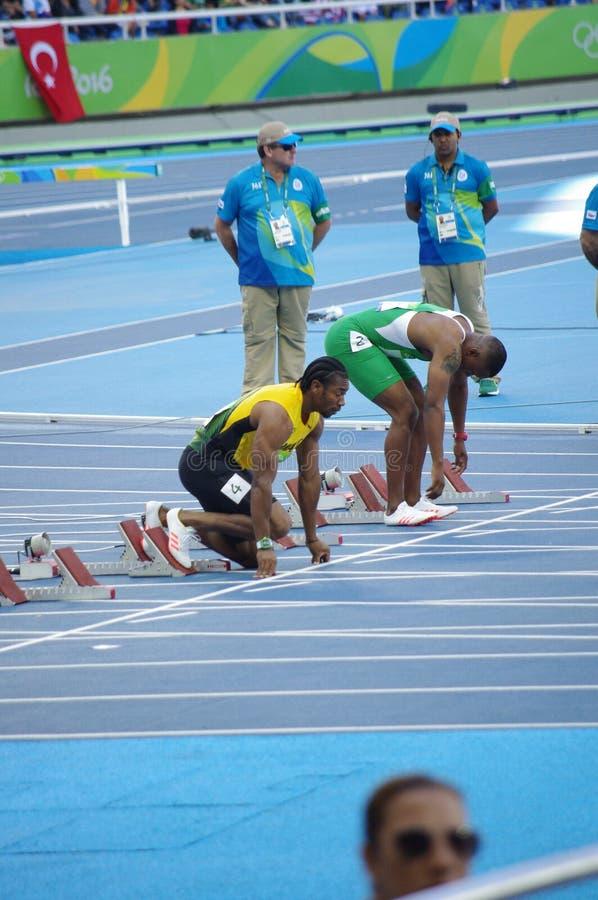 Yohan Blake, ένα τζαμαϊκανό sprinter στοκ εικόνα