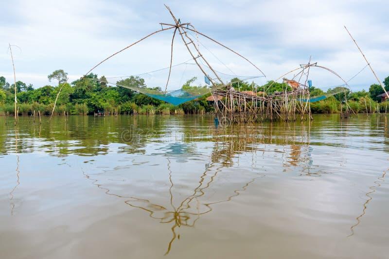 Yok Yor, est une pêche avec la sagesse locale en Thaïlande photos stock