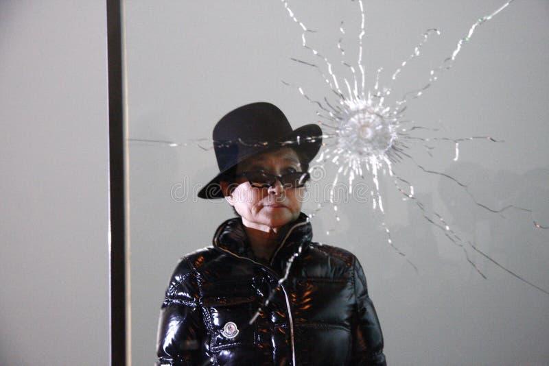 Yoko Ono fotografia stock