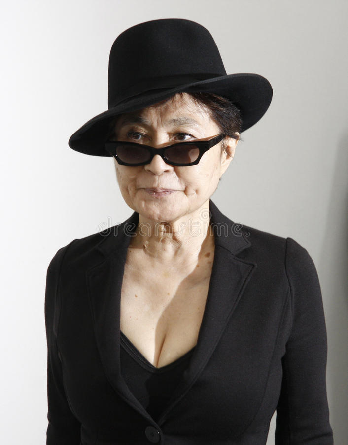Yoko Ono obrazy stock