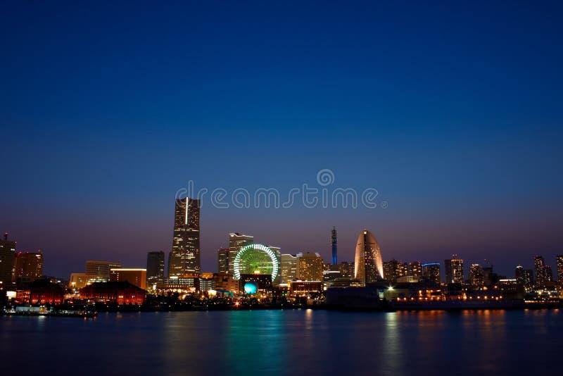 Yokohama. The view of YOKOHAMA.The image was shot after sun set time during Wintertime stock photography