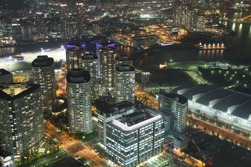 Yokohama. City in Japan from high above stock photo