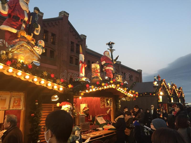Yokohama Christmas Festival royalty free stock images