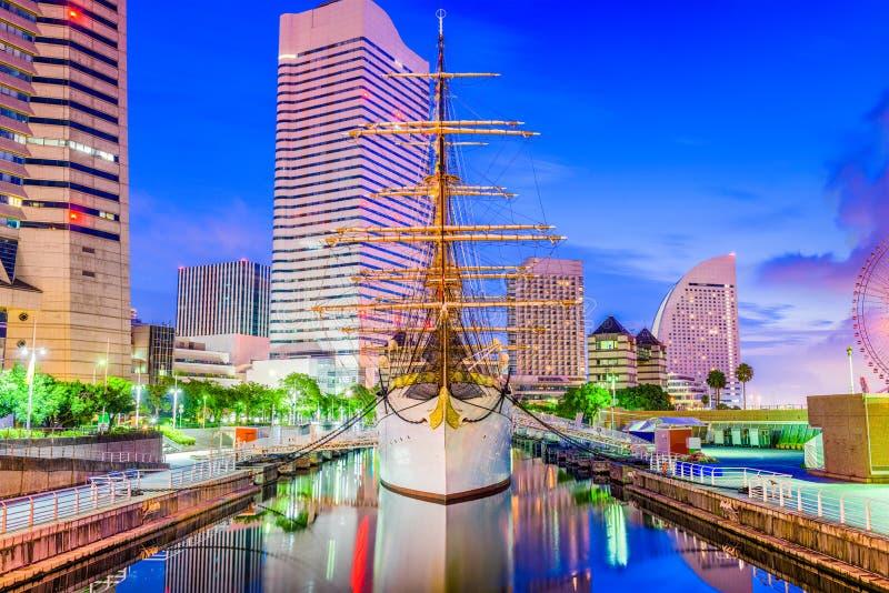 Yokohama, arquitectura da cidade de Japão imagens de stock royalty free