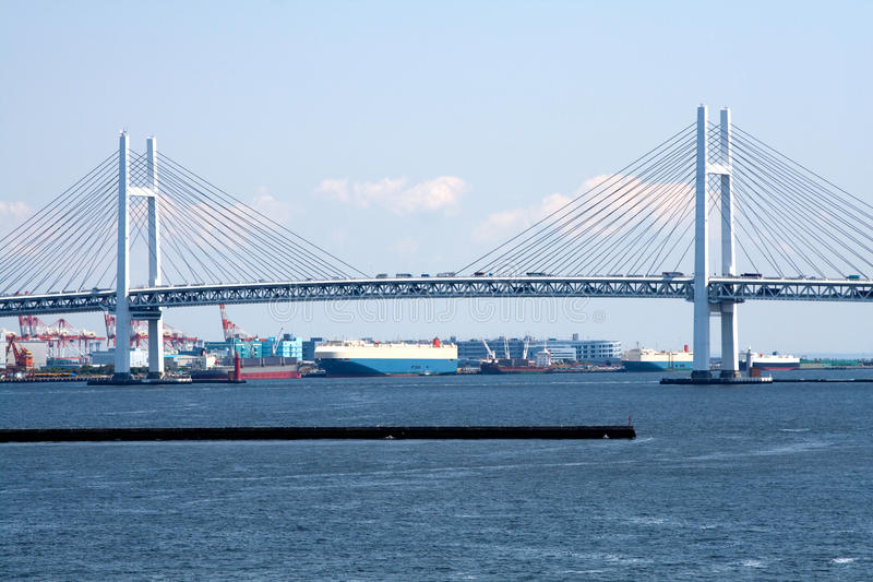 Yokohama Bay Bridge.Japan stock images
