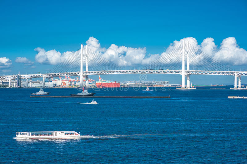 Yokohama Bay Bridge royalty free stock photography