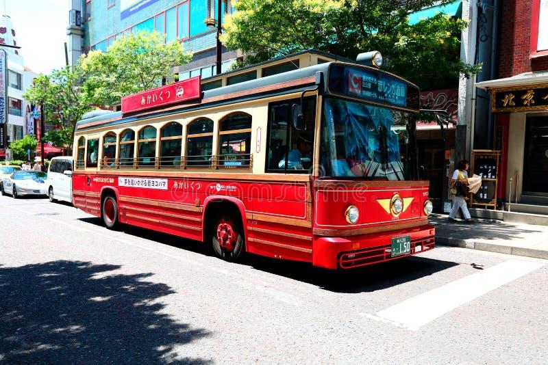 Yokohama: Bus di giro a Yokohama, Giappone fotografie stock