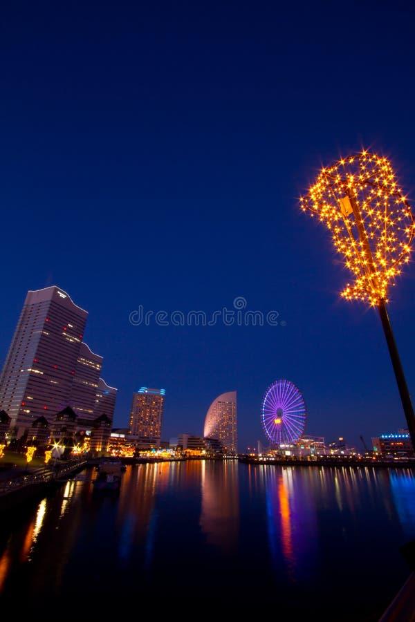 Yokohama Christmas illumination in Tokyo royalty free stock images