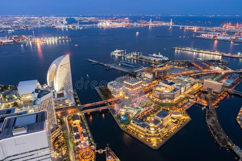 Yokohama city aerial view stock images