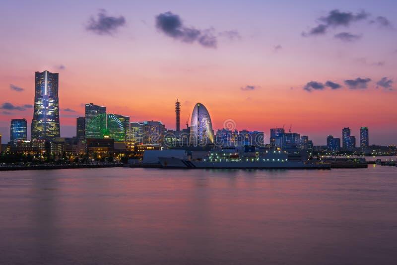 Yokohama. City in Japan at night royalty free stock photography