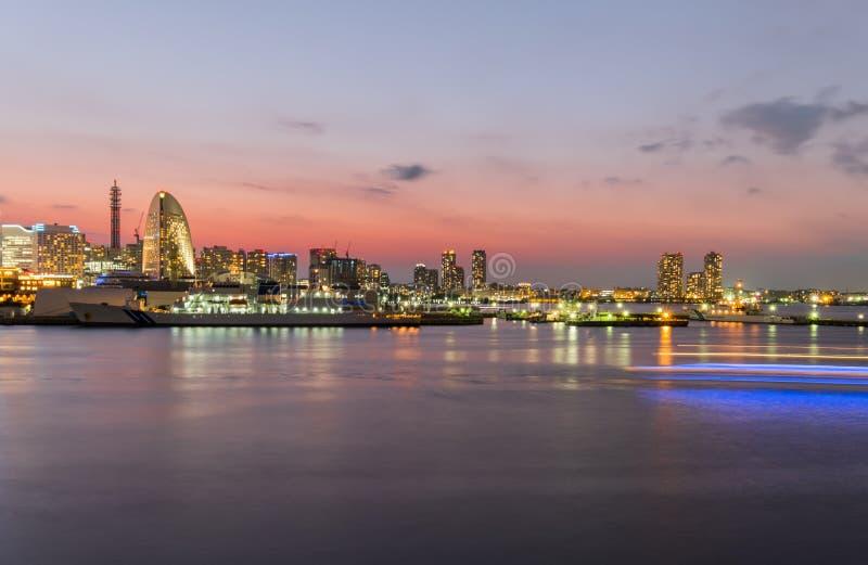 Yokohama. City in Japan at night royalty free stock photo