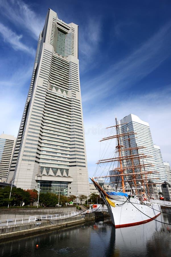 Yokohama, Cityscape van Japan bij minato-Mirai royalty-vrije stock fotografie