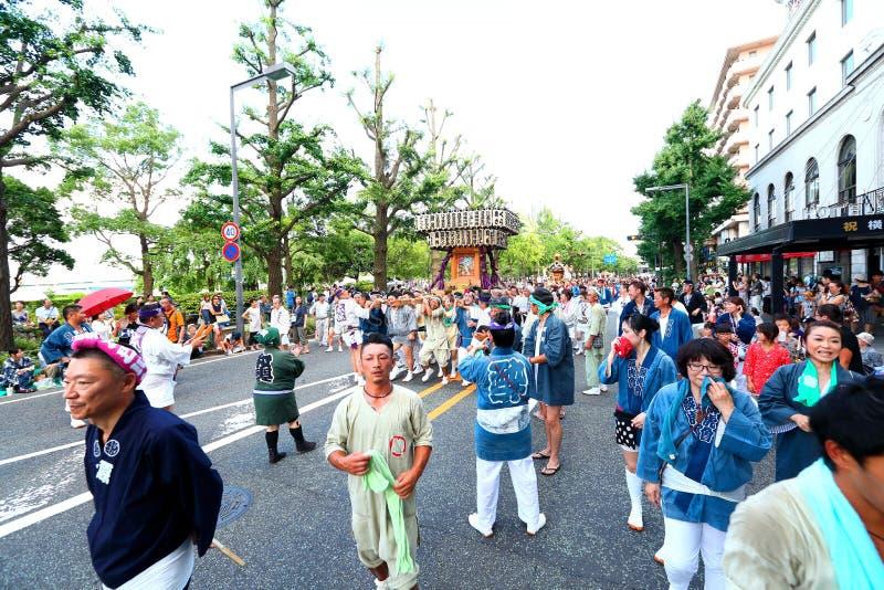 Yokohama: Het fonkelen Schemering stock afbeeldingen