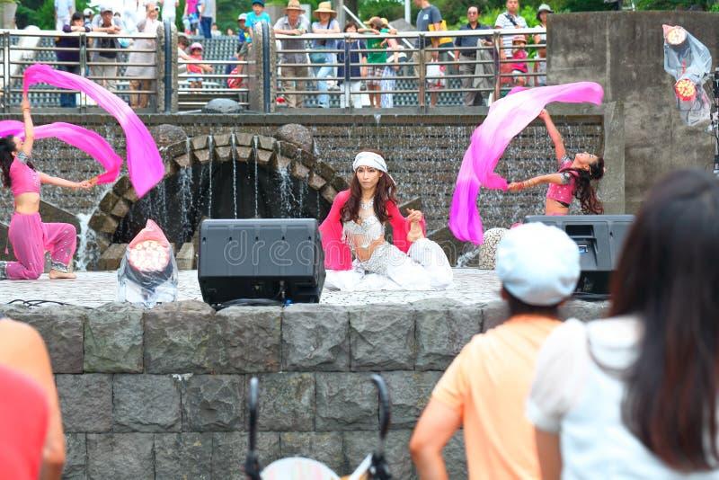 Yokohama: Het fonkelen Schemering royalty-vrije stock afbeeldingen