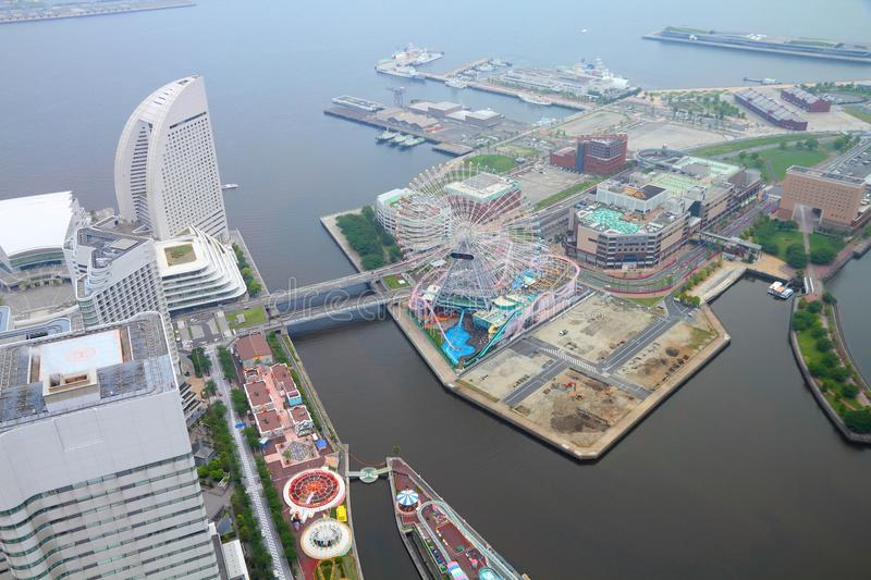 Yokohama, Japan. Aerial view in second largest city in Japan, capital city of Kanagawa prefecture stock images