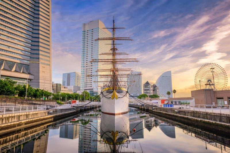 Yokohama, Japan Harbor. Yokohama, Japan cityscape at Minato-mirai district stock photography