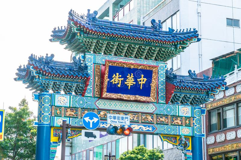 Yokohama japan 26 Jul 2018 : China town is the popular place for stock photography