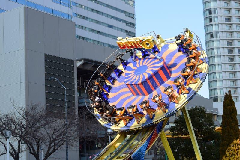 Yokohama, Japan Minato Mirai 21 Recreation facilities. People are playing very happy stock photos