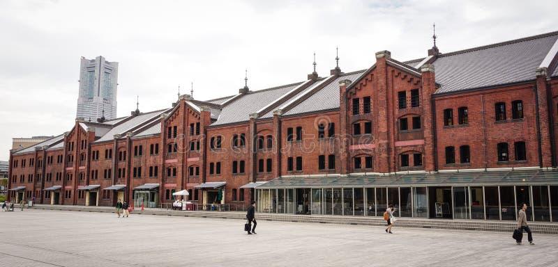 Historical warehouse in Yokohama, Japan royalty free stock photography