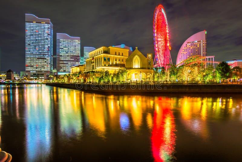 Yokohama, Japan. Skyline at Minato Mirai waterfront district royalty free stock images