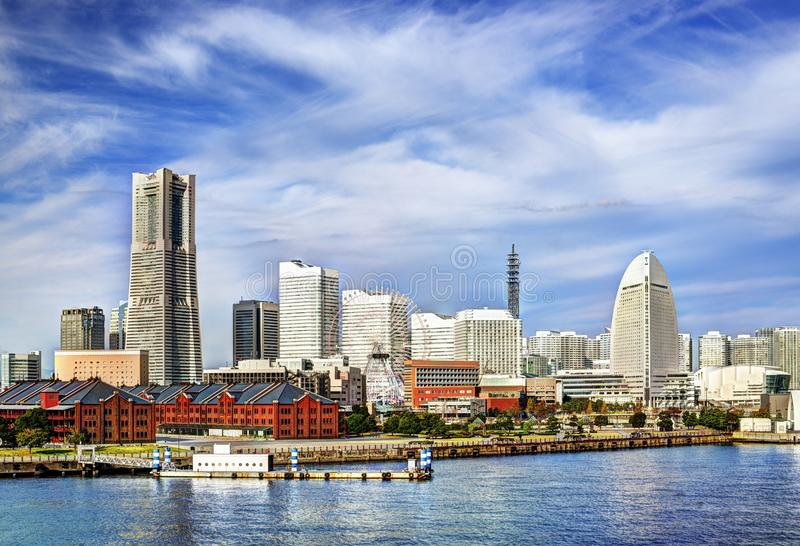 Yokohama, Japan. View of Yokohama, Japan. The city is the second largest in the country stock photo
