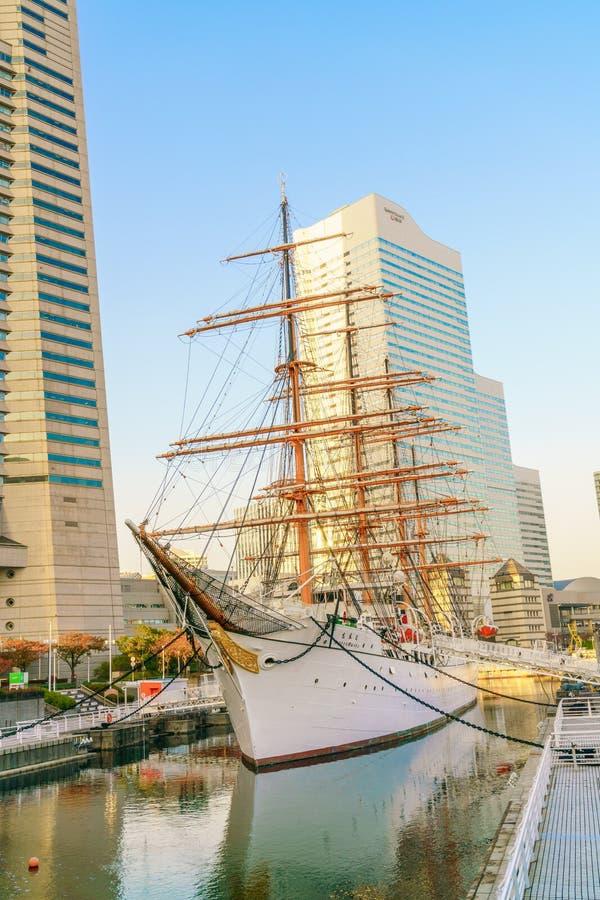 YOKOHAMA, JAPON - 24 novembre : Le Nippon Maru à Yokohama, Japon dessus image libre de droits