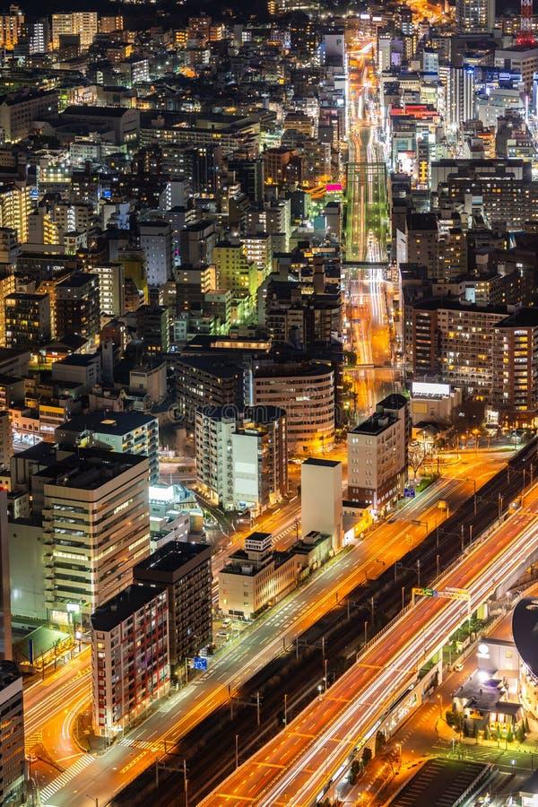 Yokohama miasta widok z lotu ptaka fotografia stock