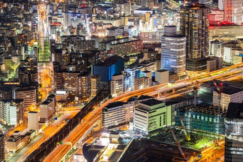 Yokohama miasta widok z lotu ptaka obrazy stock