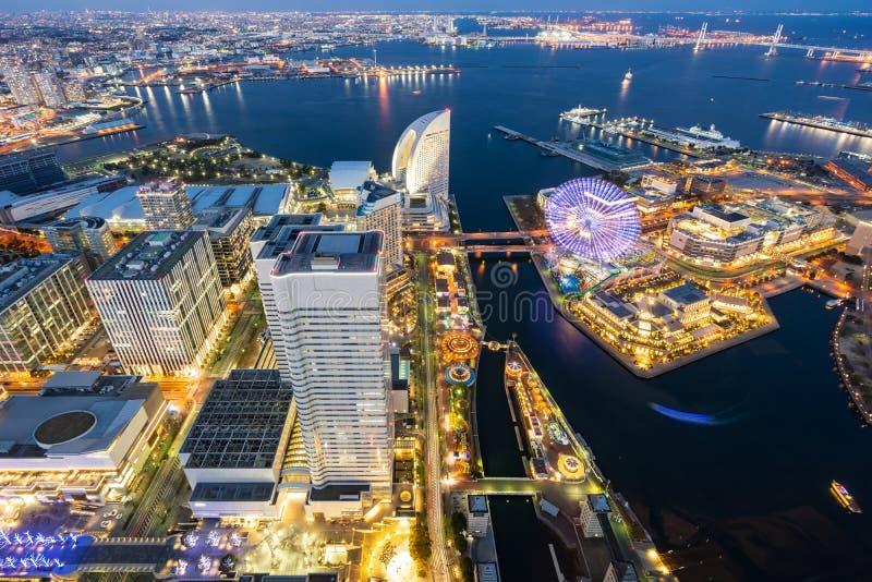 Yokohama miasta widok z lotu ptaka fotografia royalty free