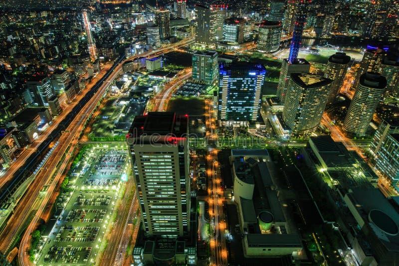 Yokohama na noite foto de stock