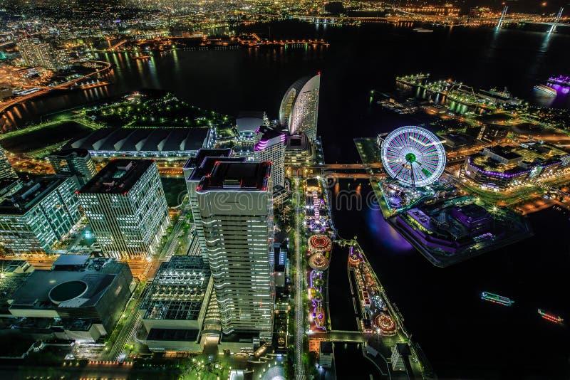Yokohama by night royalty free stock photo
