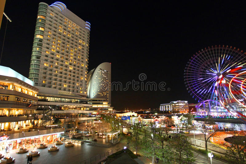 Yokohama at Night stock image