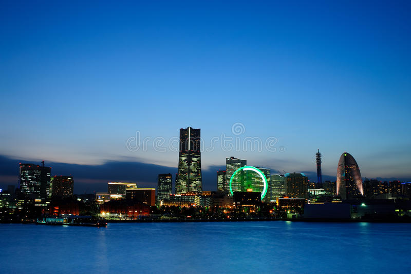 Yokohama no crepúsculo imagens de stock