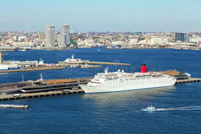 Yokohama port. At day time royalty free stock images