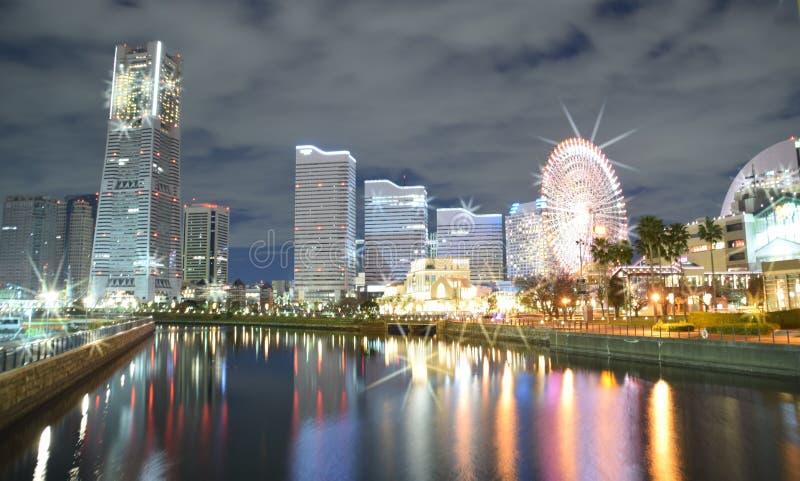 Yokohama port Nightview zdjęcie royalty free