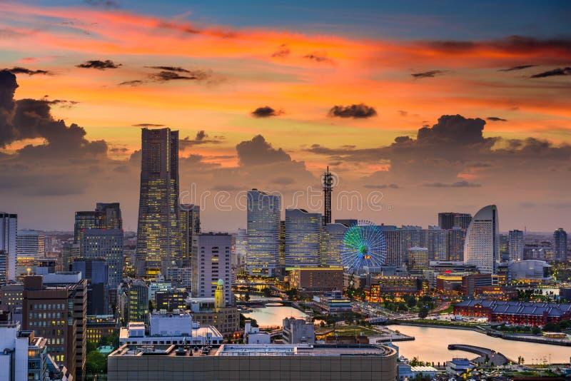 Yokohama Skyline. Yokohama, Japan cityscape of Minato Mirai District royalty free stock photo