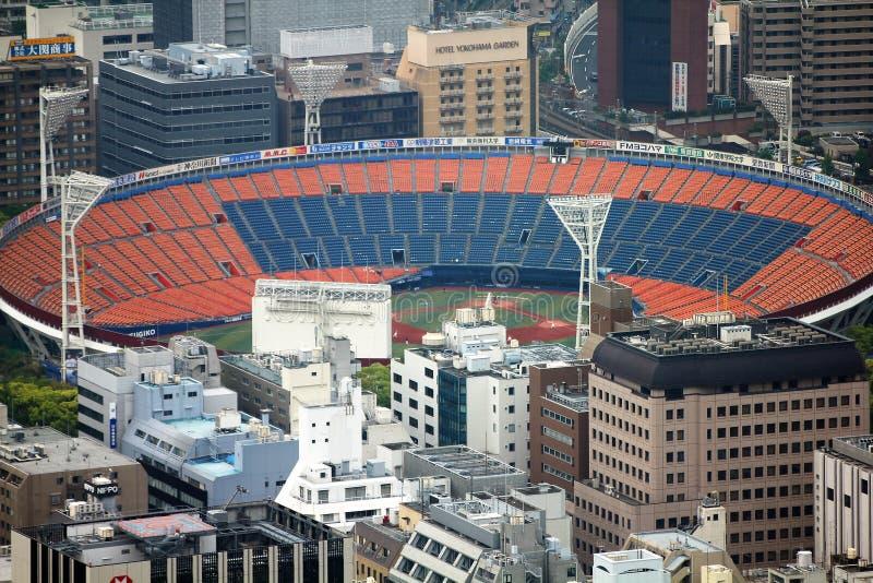 Yokohama Stadium. YOKOHAMA, JAPAN - MAY 10, 2012: Aerial view of Yokohama Stadium in Japan. The venue holds 30,000 people royalty free stock photos