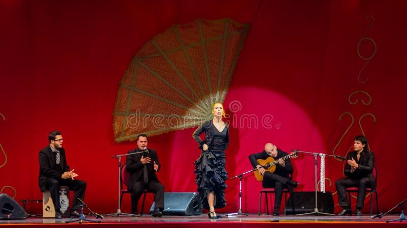 Yolanda Osuna - flamenco dancer. The flamenco dancer Yolanda Osuna during the show of Spain Day 2013 organized in Bucharest royalty free stock photography