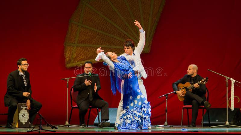 Yolanda Osuna - flamenco dancer. The flamenco dancer Yolanda Osuna during the show of Spain Day 2013 organized in Bucharest. This photo is for Editorial use and stock images